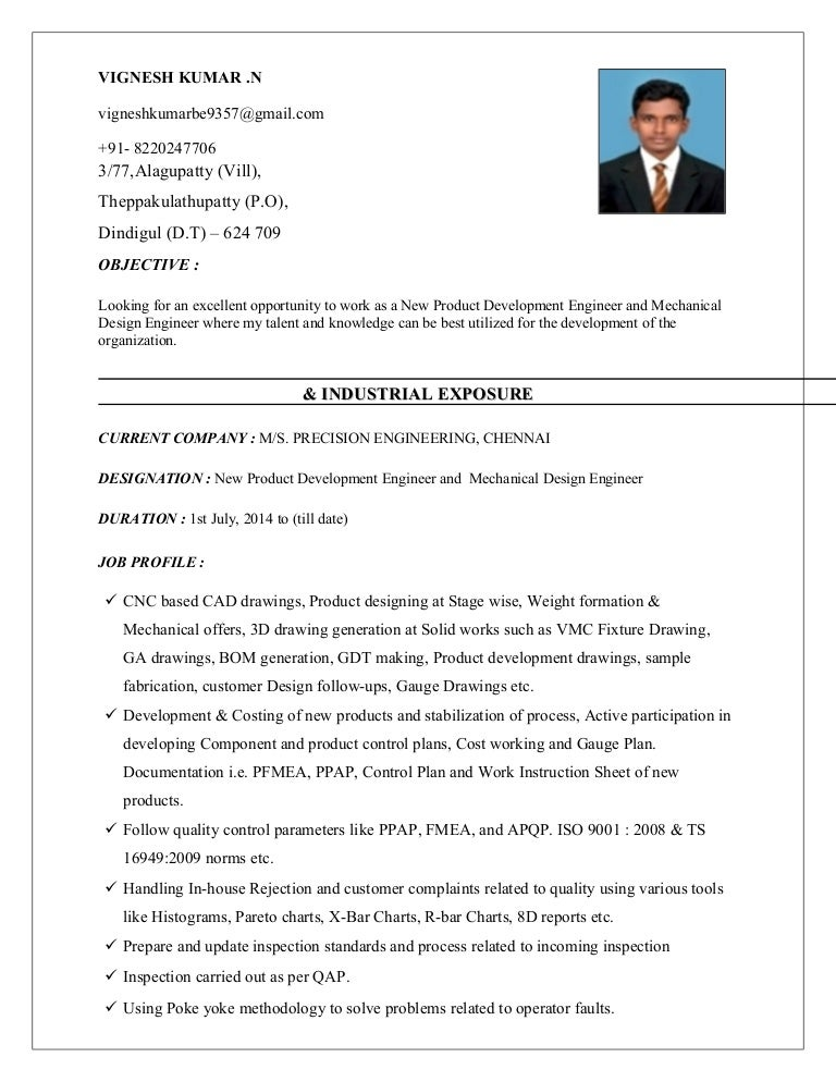 vignesh kumar resume latest