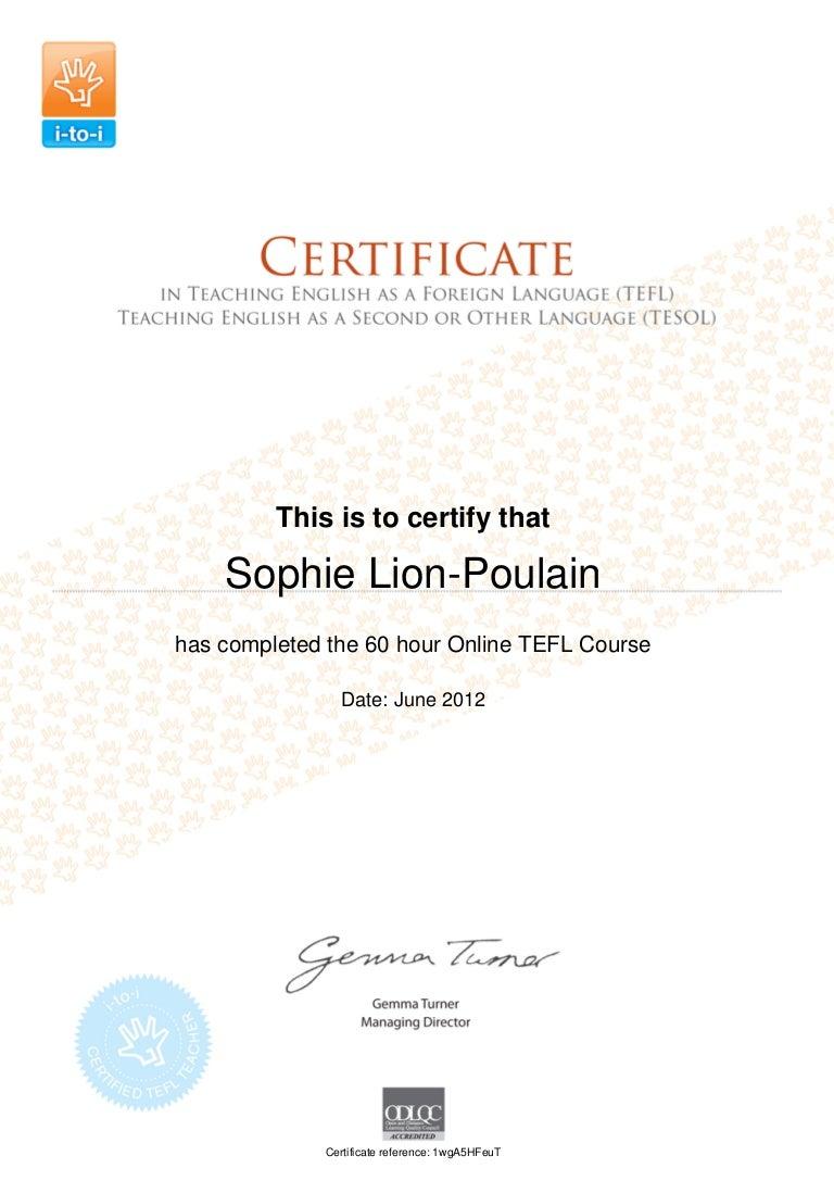 tefl certificate slideshare upcoming