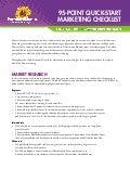 95-Step Total Marketing Checklist
