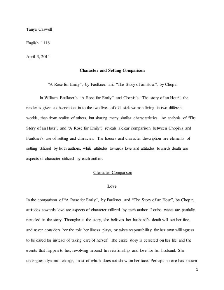 Analysis Essay Thesis Comparison Essay A Rose For Emily Thesis Statement Essays also College Essay Paper Comparison Essay A Rose For Emily  Comparing Short Stories Of The  An Essay On Newspaper