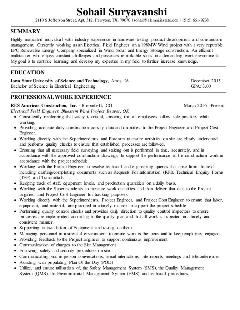Modern Wind Energy Resume In Iowa Component - Best Resume Examples ...