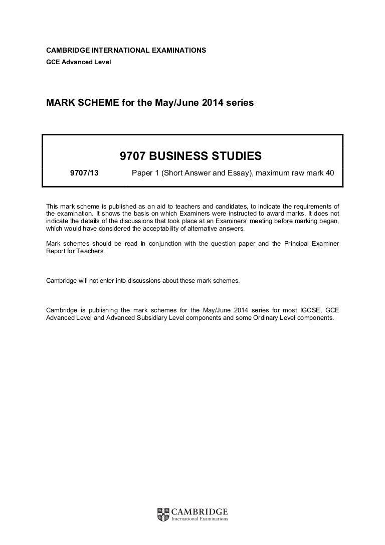 Edexcel june 2013 business studies past papers array 9707 s14 ms 13 rh slideshare fandeluxe Gallery
