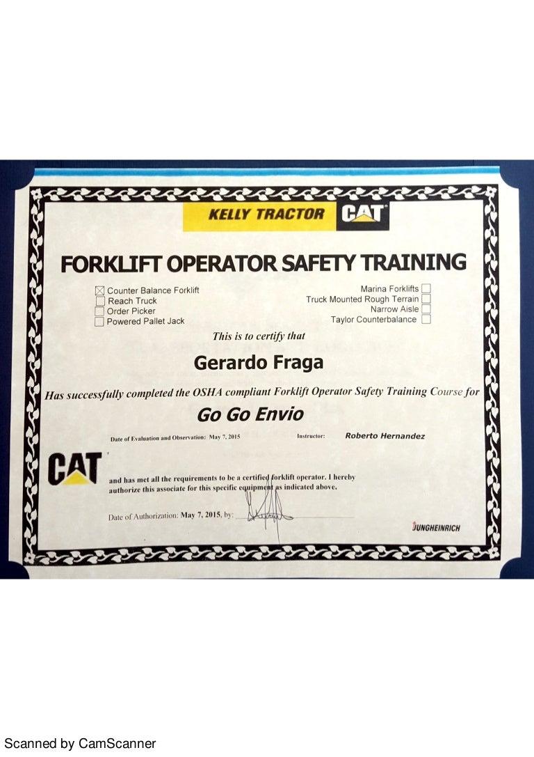 Osha Forklift Operator Safety Training
