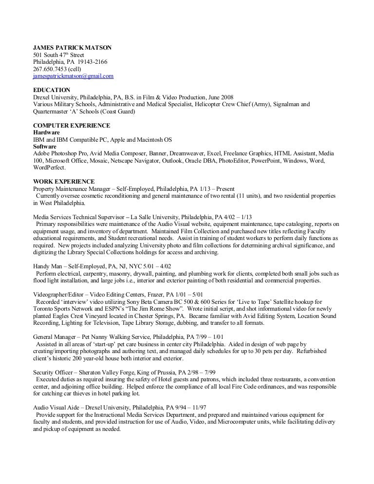 Matson Resume