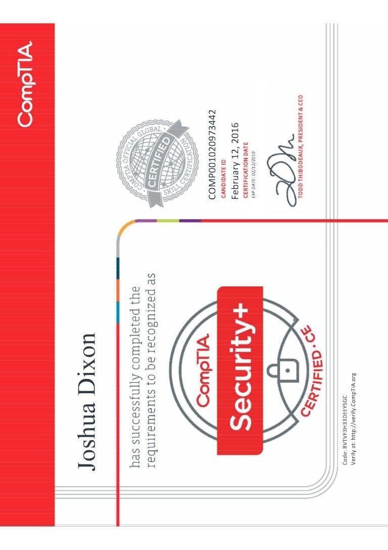 Comptia security ce certificate xflitez Choice Image