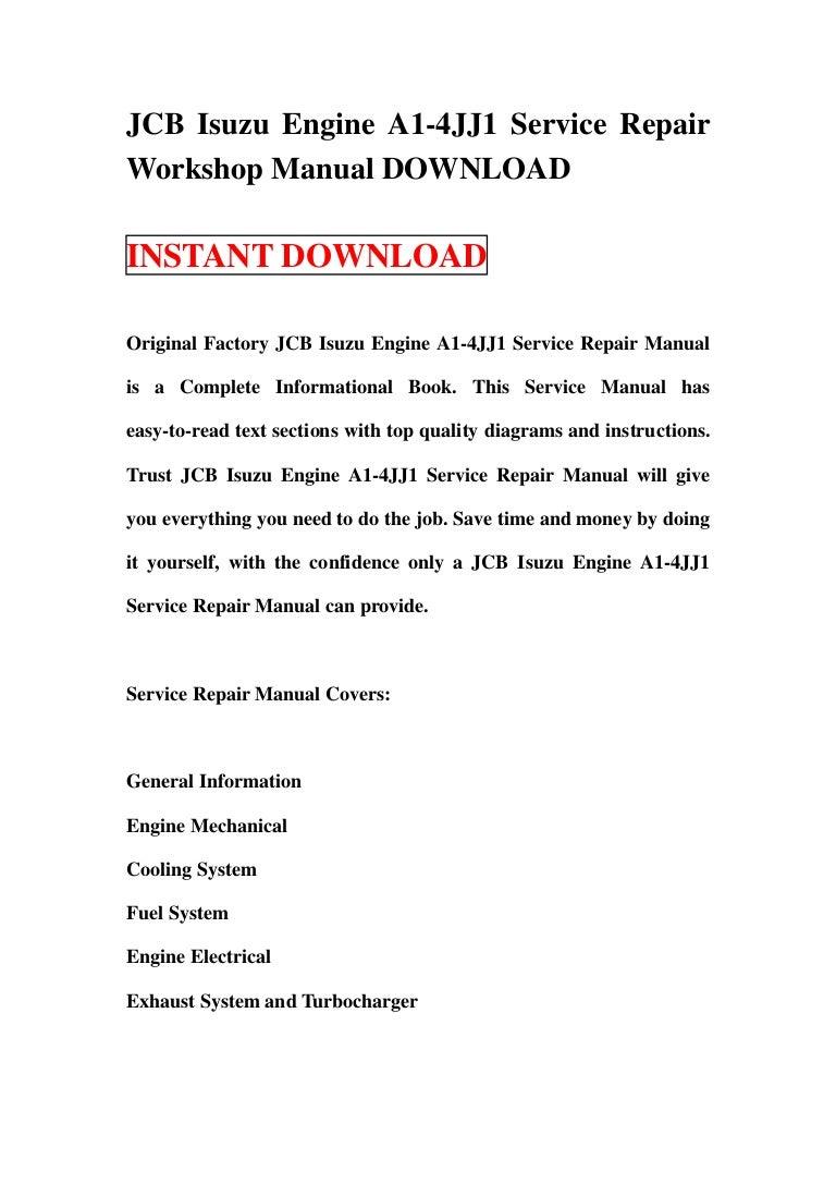 isuzu 4jj1 workshop manual ebook on