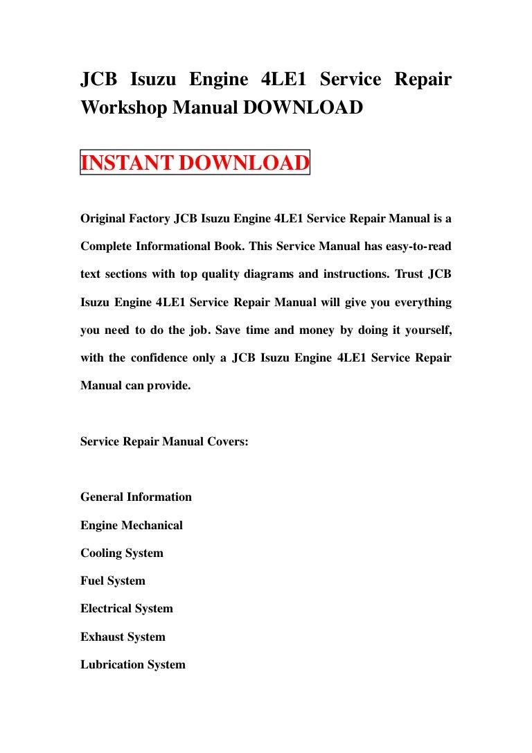 9806-4000-130103165351-phpapp01-thumbnail-4.jpg?cb= JCB Isuzu Engine 4LE1  Service Repair ...