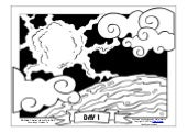 Coloring Page: The Creation of the World: In the Beginning…