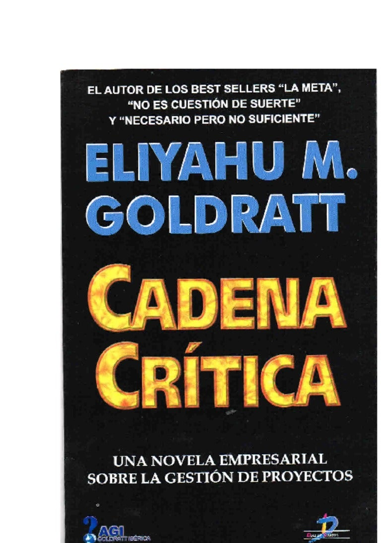 libro cadena critica eliyahu goldratt pdf