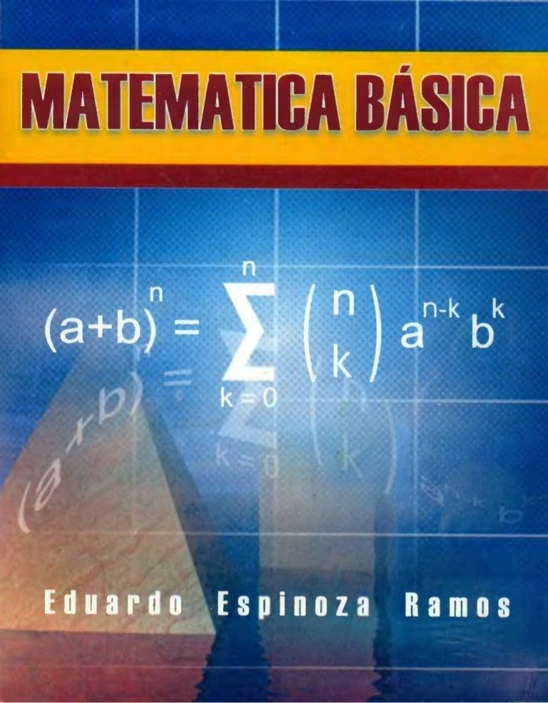 Matemática Básica Eduardo Espinoza Ramos