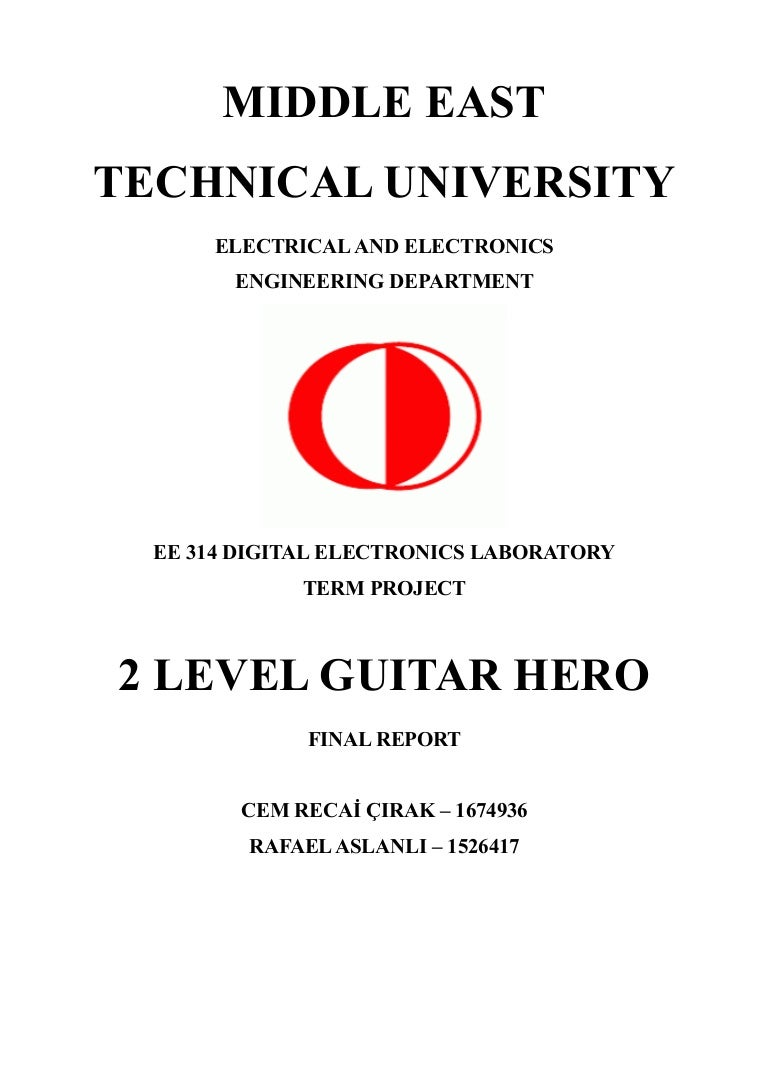 2 Level Guitar Hero Final Report Wiring Diagram