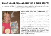 Eight Years Old and Making a Difference