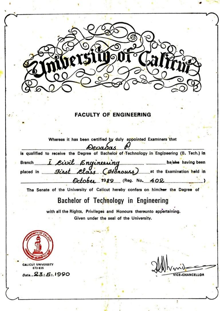 certificate degree civil engineering tech btech slideshare devadas upcoming