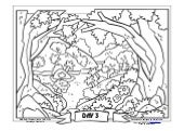 Coloring Page: The Creation of the World: Vegetation Appears