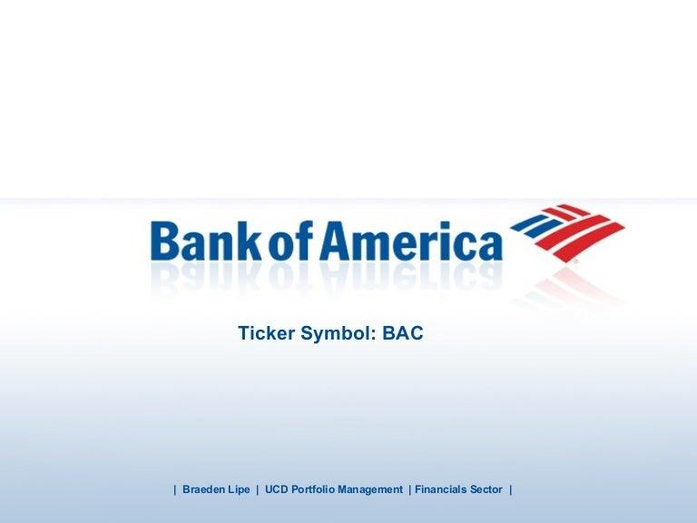 Bank Of America Stock Presentation