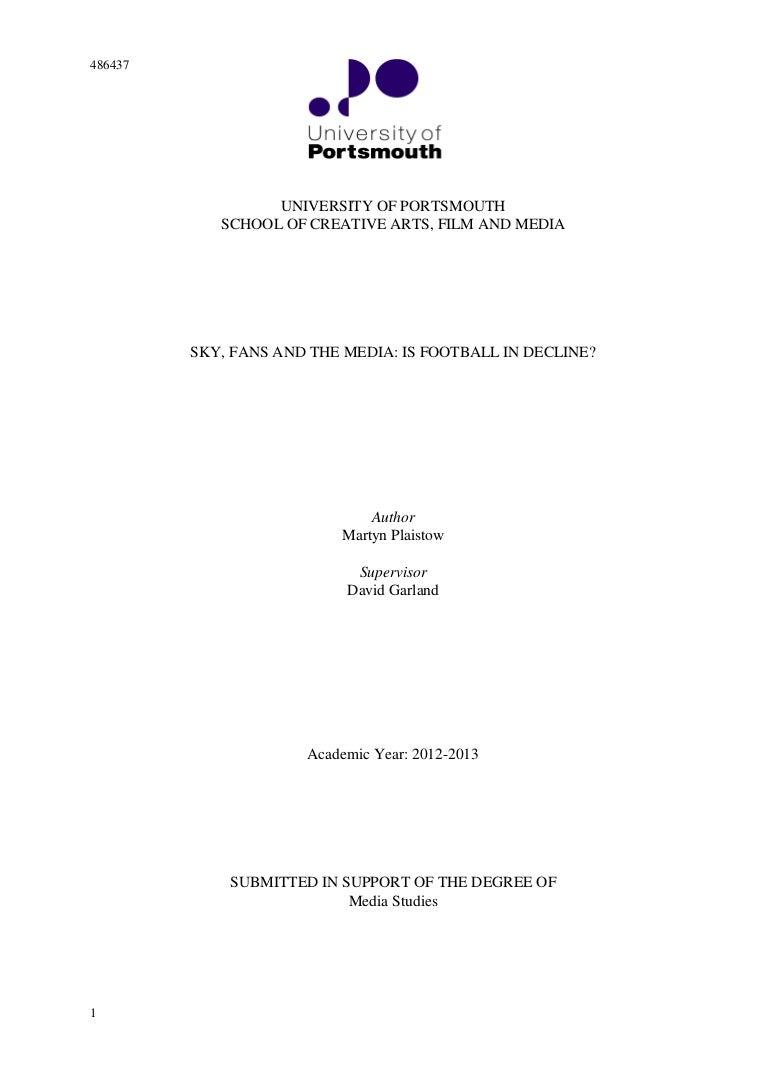 Dissertation portsmouth uni