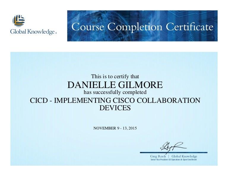 cisco collaboration certificate