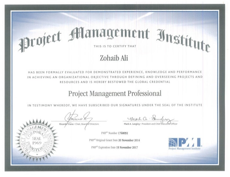 pmp certificate slideshare upcoming