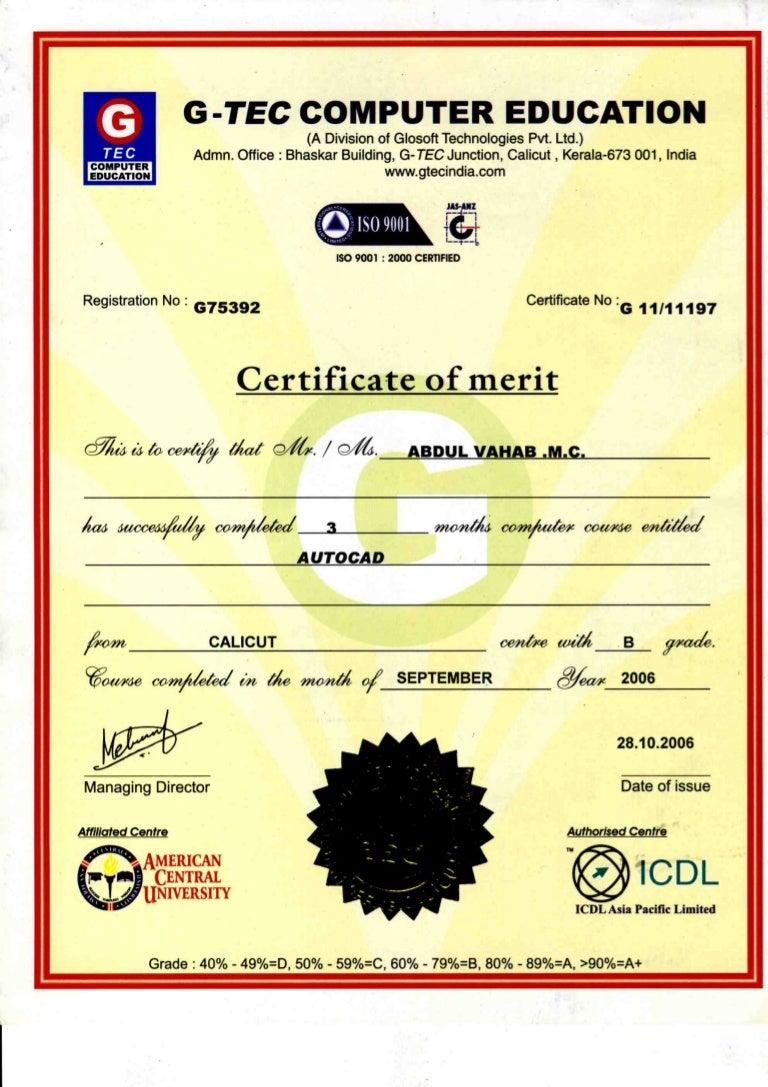 certificate autocad slideshare upcoming