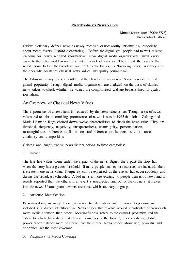 new/digital media essay
