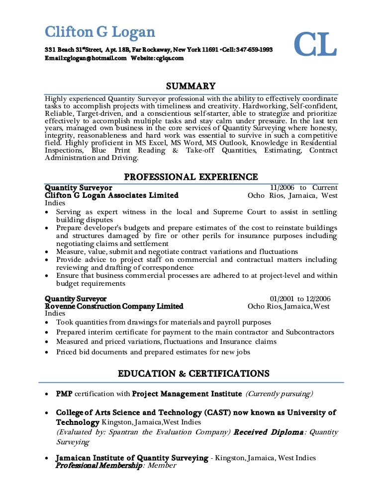 Clifton G Logan Resume