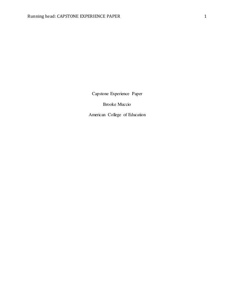 capstone paper
