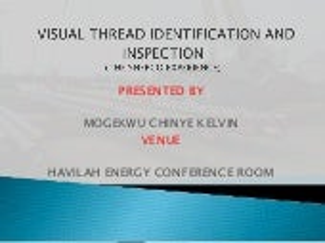 VISUAL INSPECTION   pt 2