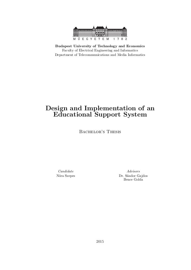 Design and implementation part of dissertation