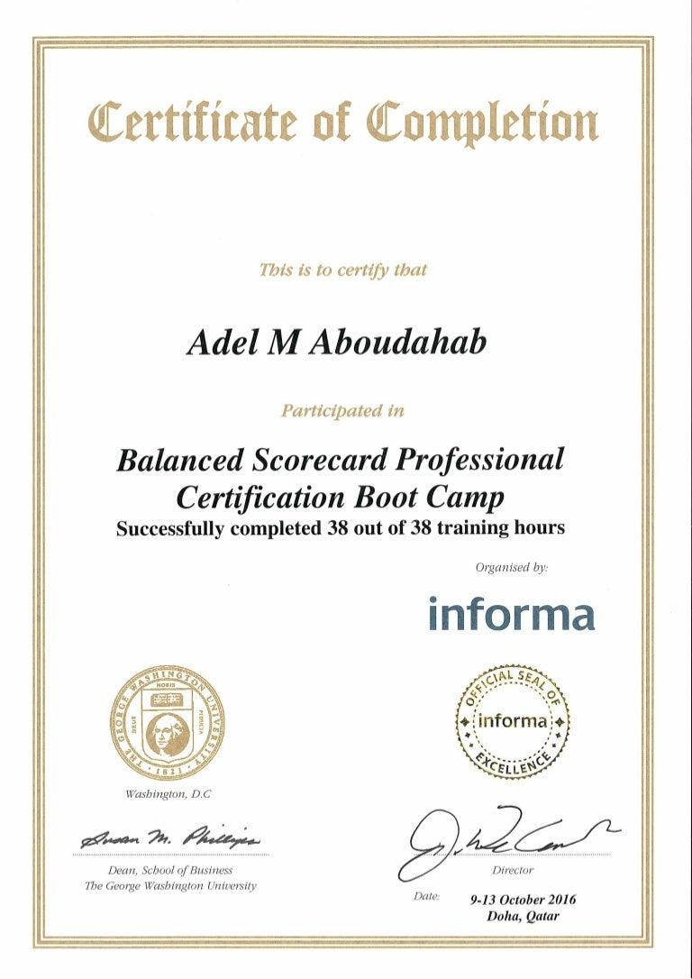 Balanced scorecard attendence certificate 1betcityfo Choice Image