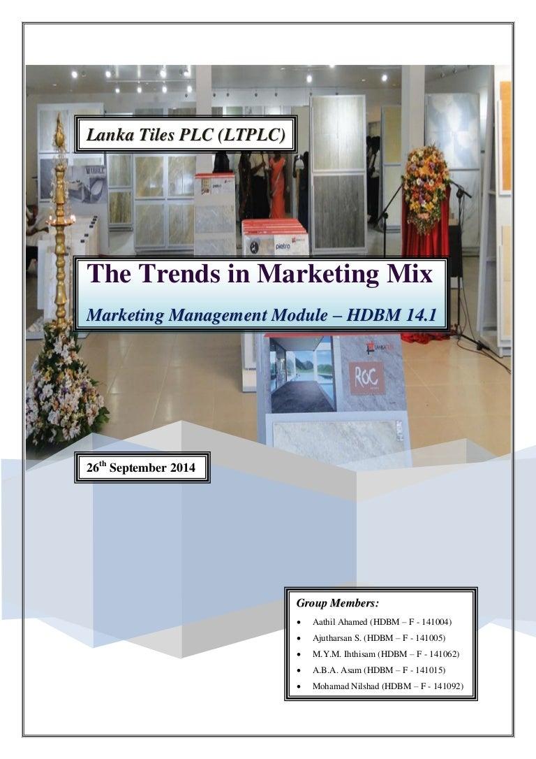 Mkt_Project Report (Lanka Tiles PLC) (26 Sept 2014)