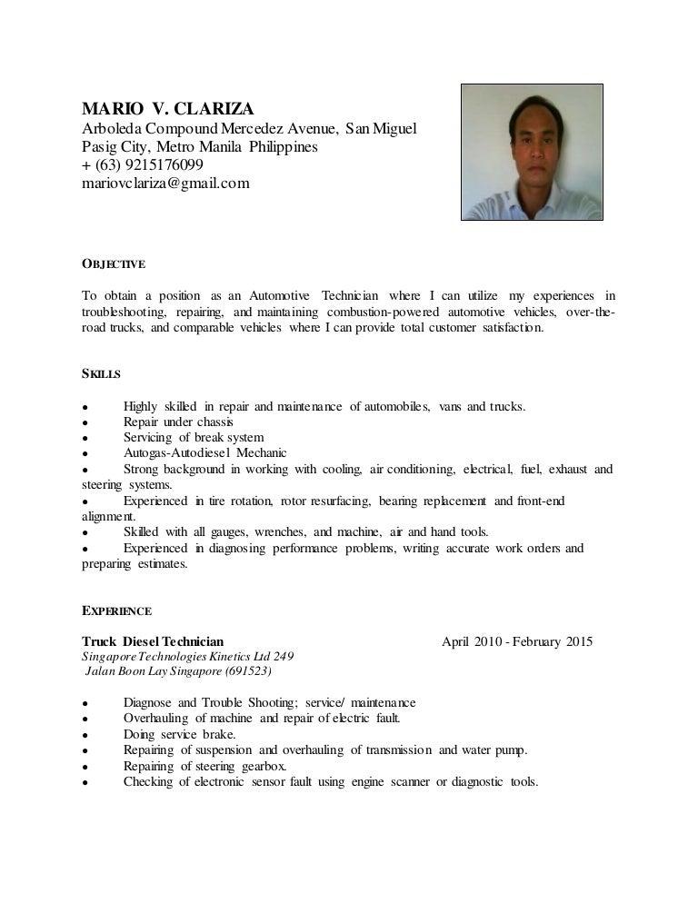 Ac Repair Sample Resume