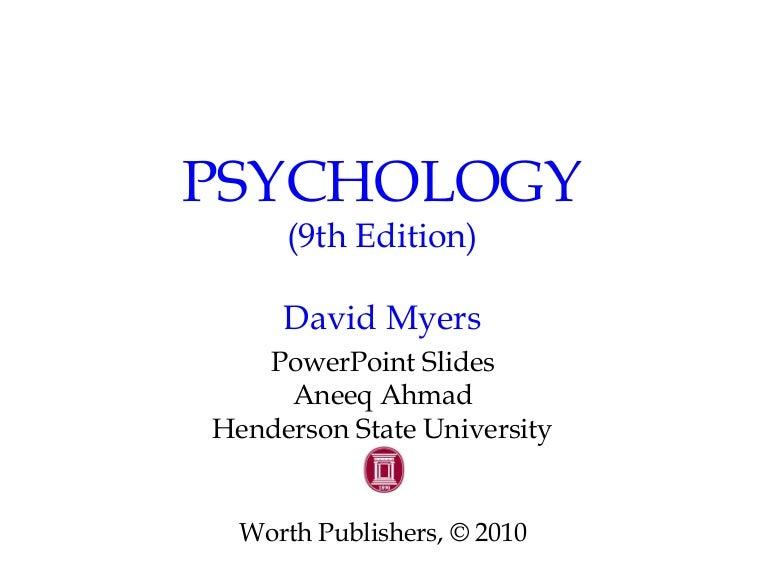 Chapter 1 Myers Psychology 9e