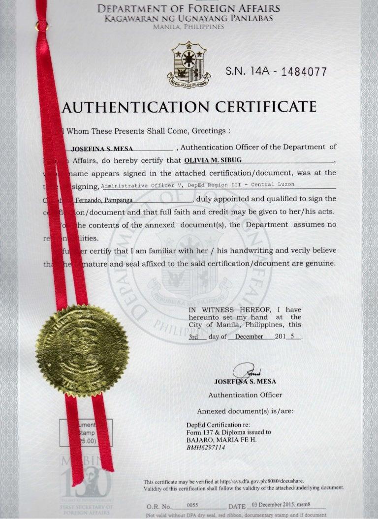 Red Ribbon Diploma