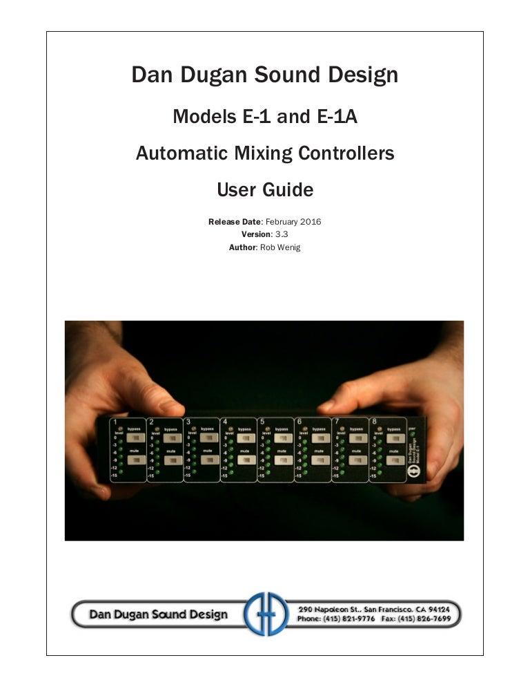 Models E-1 and E-1A User Guide v3 4