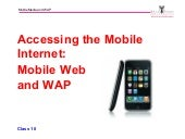Mobile Web and WAP_Michael Hanley