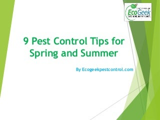 summer pest control tips
