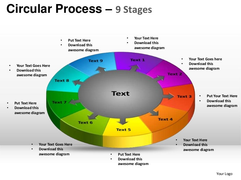 stages circular process powerpoint templates