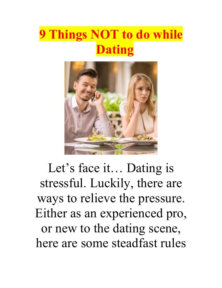 Best things to do while dating