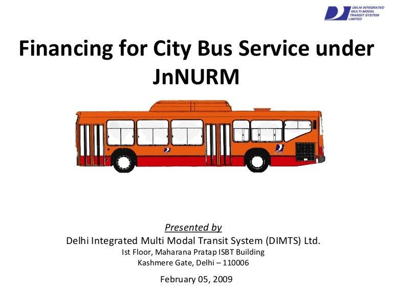 JnNURM Bus Financing - Delhi Experience