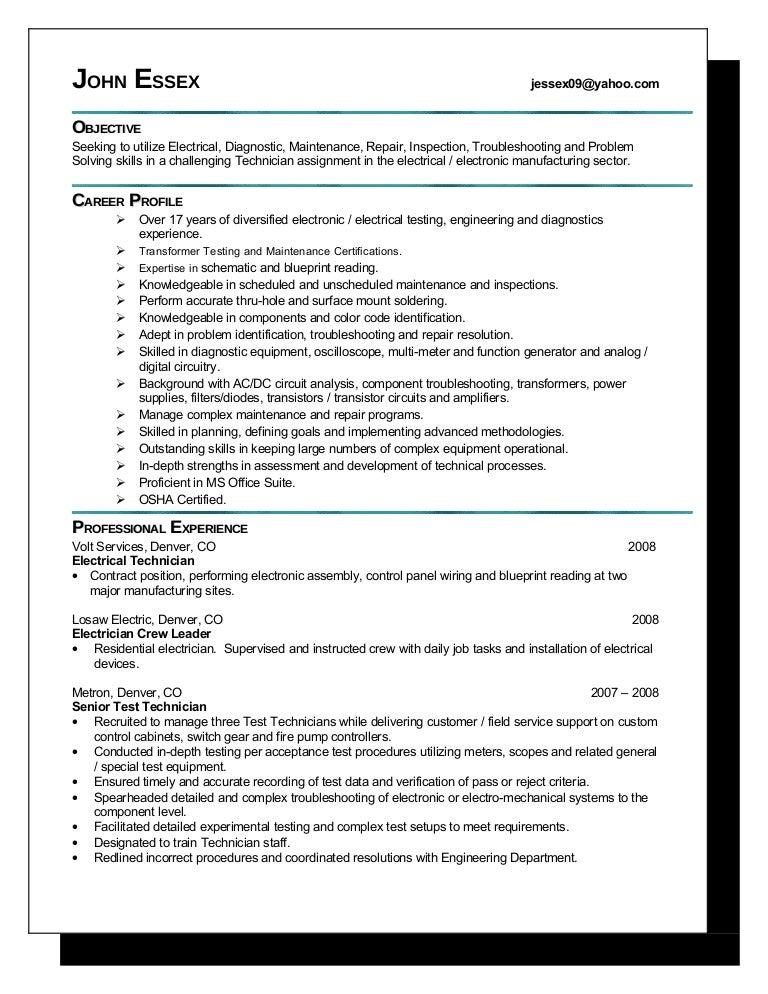 Soldering CV Work Experience