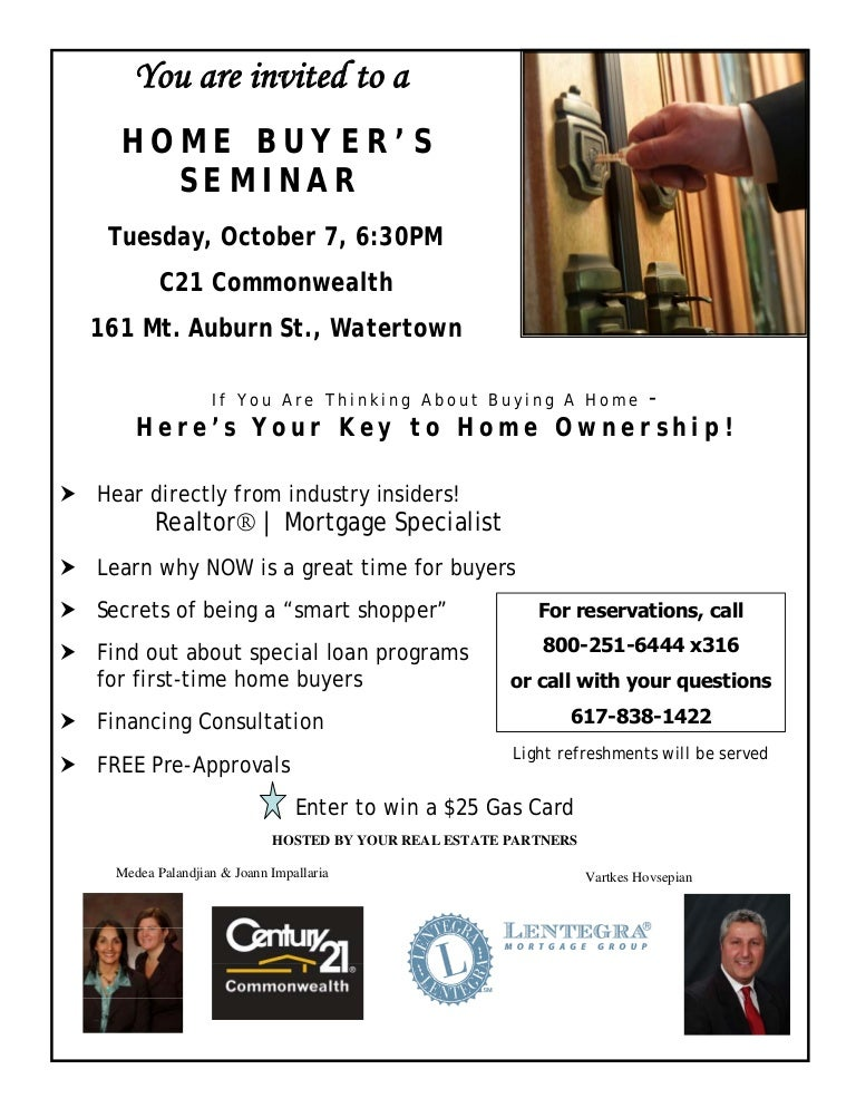 Flyer Home Buyer Seminar C21 Comm