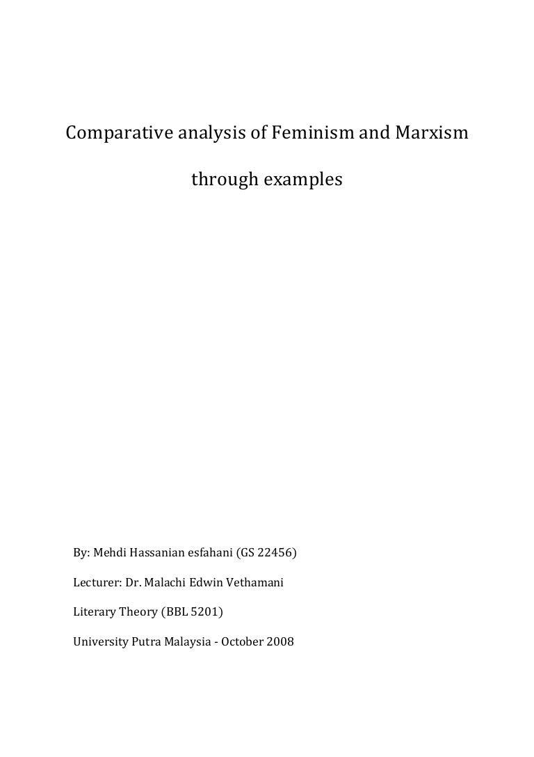 feminism vs marxism