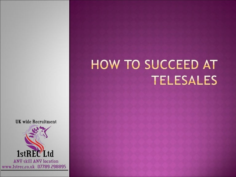 free powerpoint how to succeed at telesales
