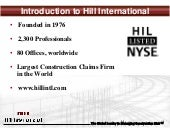 Hill Claims Services Presentation Linkedin Ppt