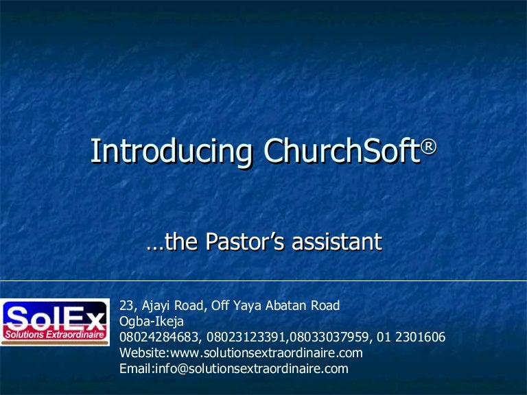 Introducing Churchsoft