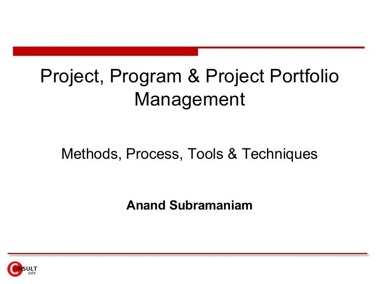 project program portfolio management