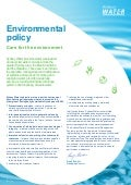 Sydney Water  Care For The Environment   Environmental Policy