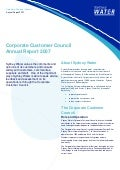 Sydney Water   Corp Customer Council Annual Providing Advice, Feedback And Assessment  Report