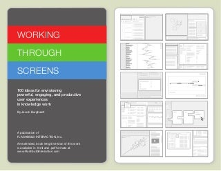 Working through Screens Idea Cards - www.FlashbulbInteraction.com/WTS.html