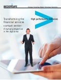 Transforming the Financial Services Contact Center: A Human Perspective in the Digital Era